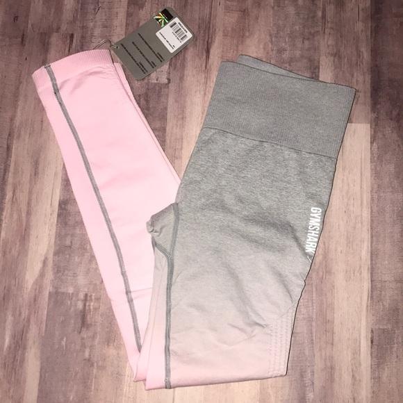 49aec976595f9 Gymshark Pants | Small Light Greychalk Pink Ombr Seamless | Poshmark